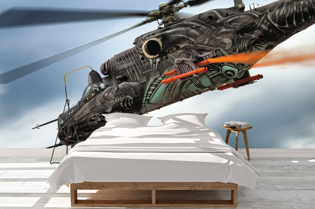Flying Alien Helicopter Bed