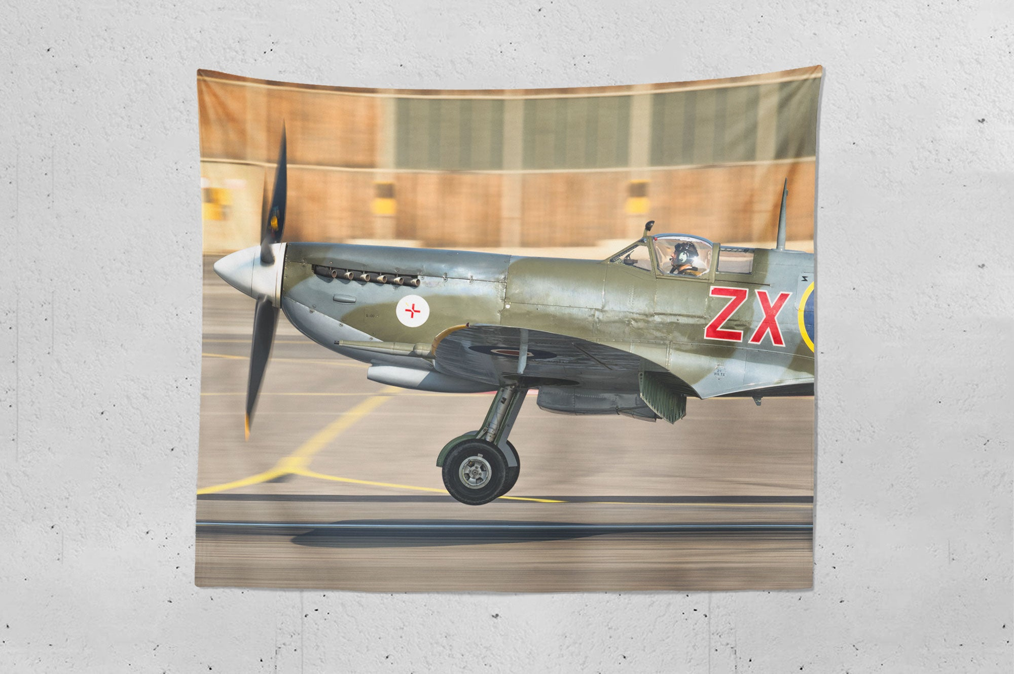 Spitfire Flying Legend Wall Hanging Tapestry