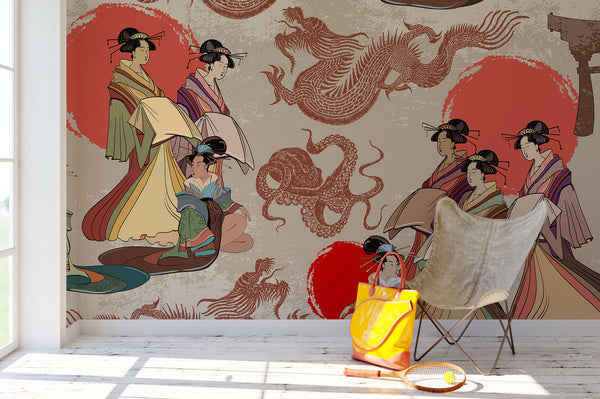 Geisha And Dragons