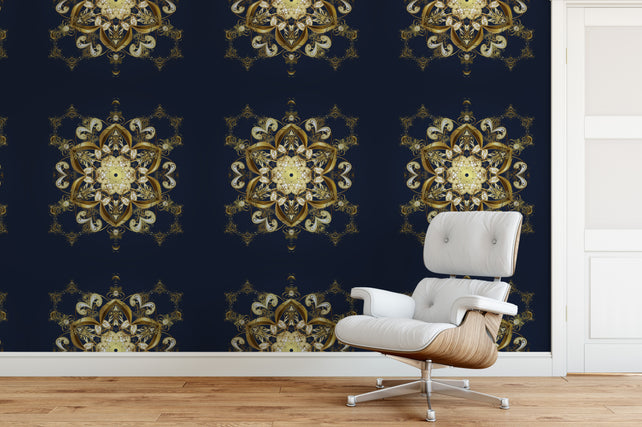 Golden Ornament Wallpaper Mural