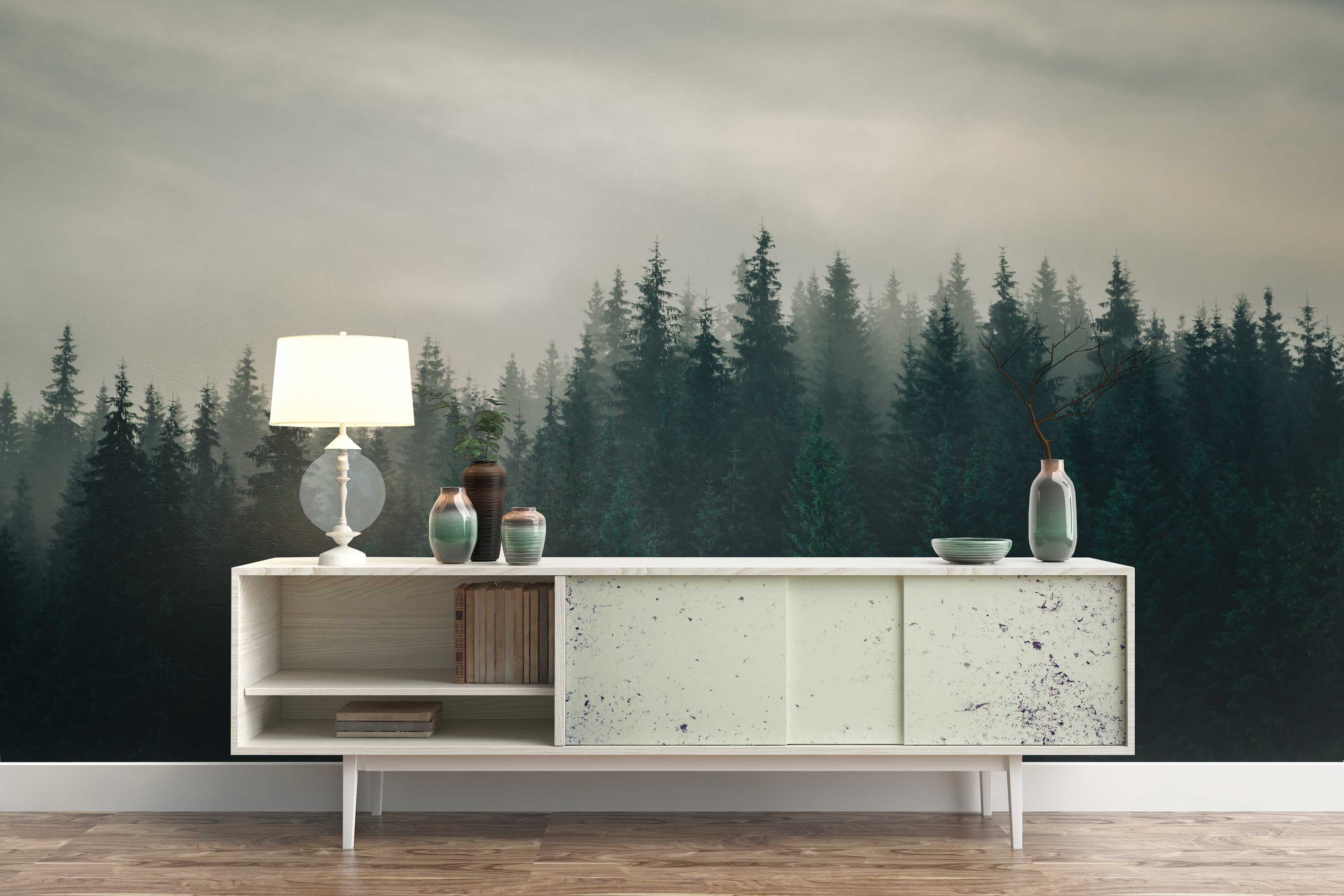 Green Forest Mist Table