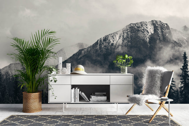 Mountain Grey Wallpaper Mural