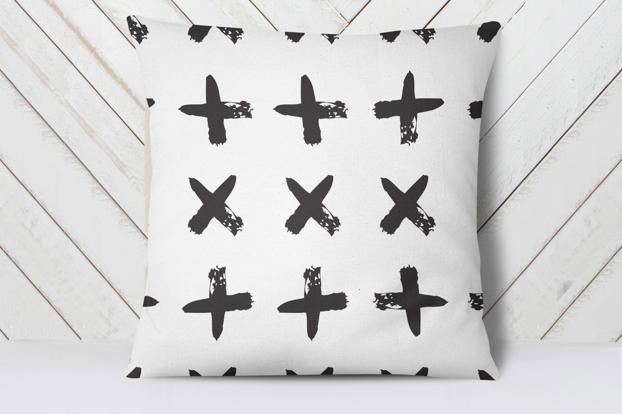 Ink Crosses Cushion Cover