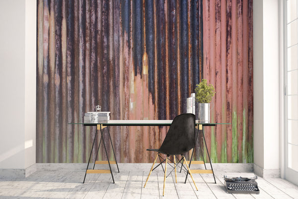 Iron Sheet wallpaper mural living room