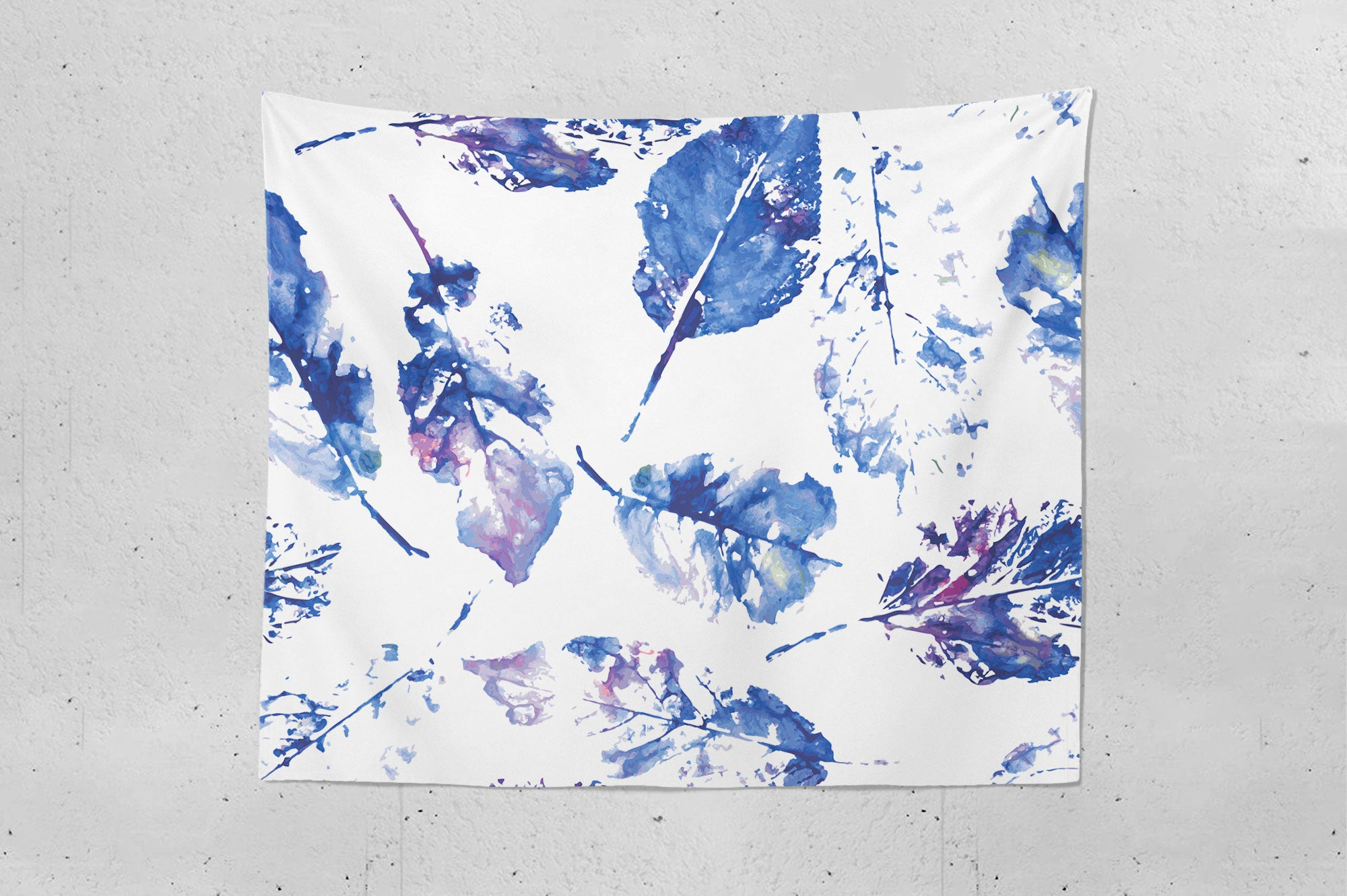 Leaf Print Wall Tapestry
