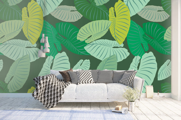 Leaves Wallpaper Mural