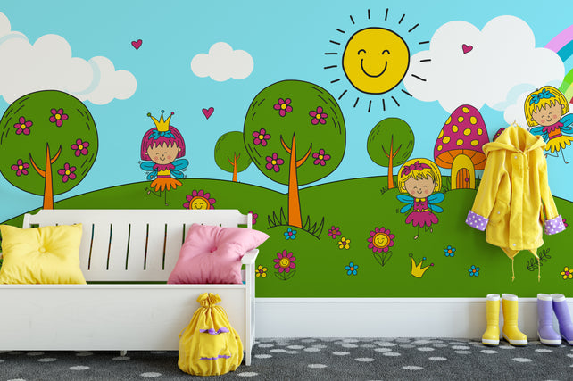 Magic Forest Wallpaper Mural chair