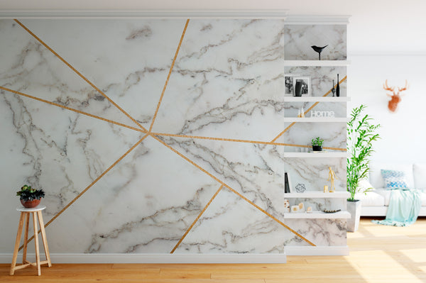 Marble Gold Lines Bed