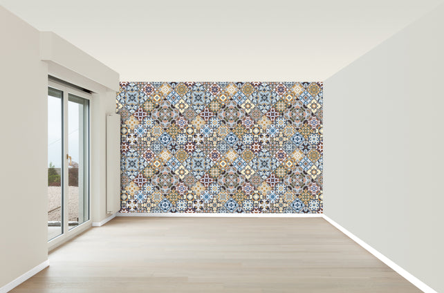 Moroccan Tiles Wallpaper Mural
