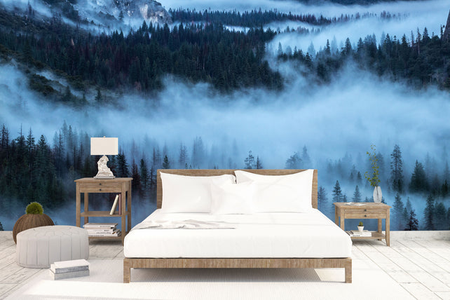 Mountain Forest Clouds bedroom