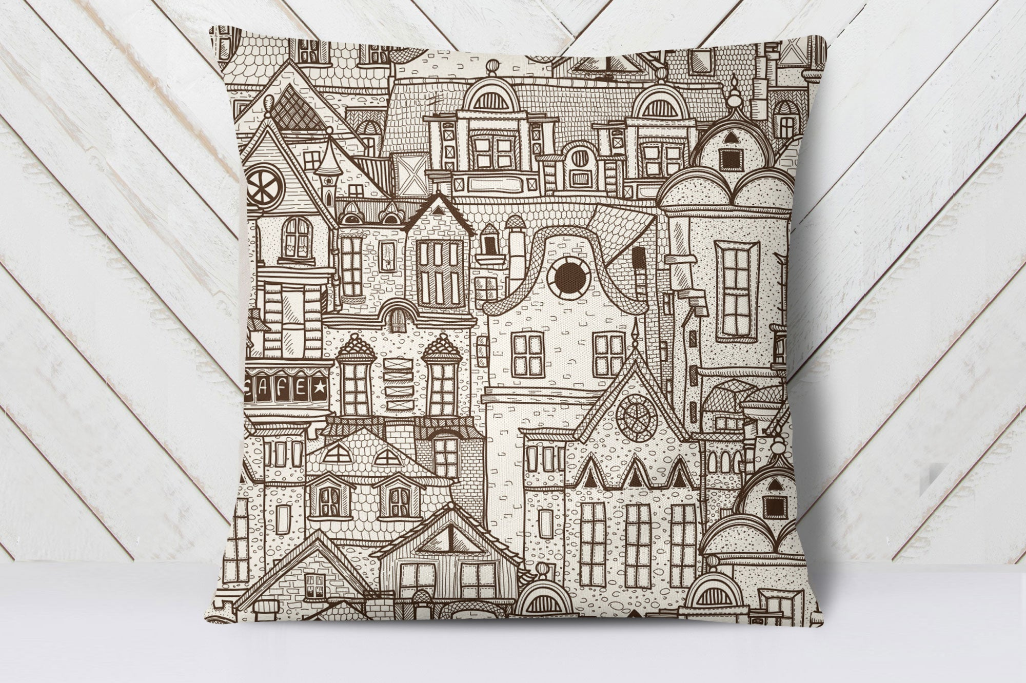 Old Town Cushion Cover