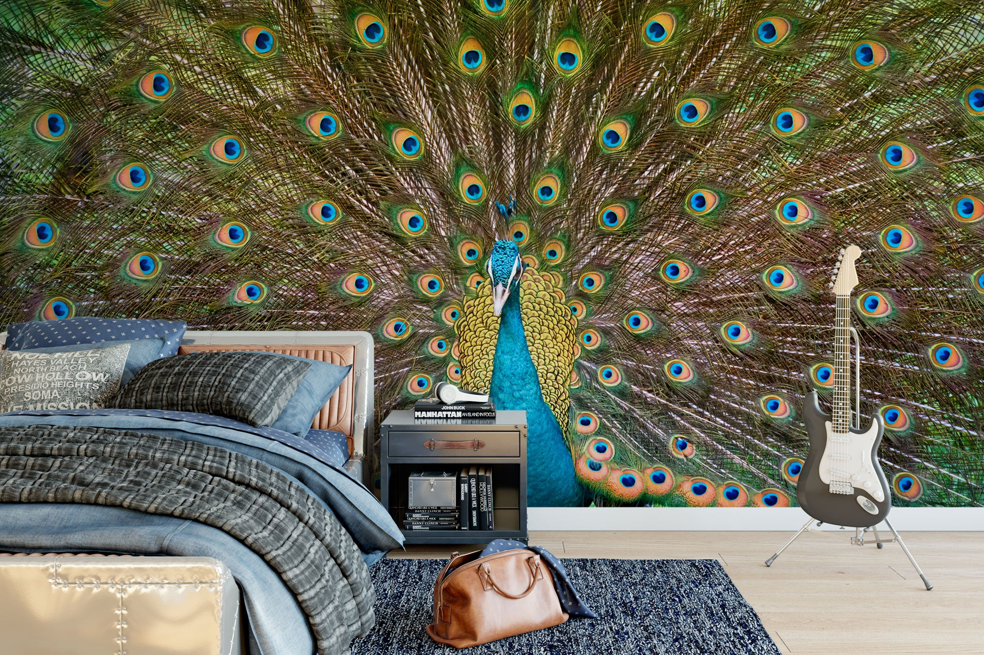 Peacock Tail Bed