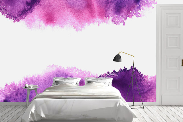 Purple Watercolour Bed