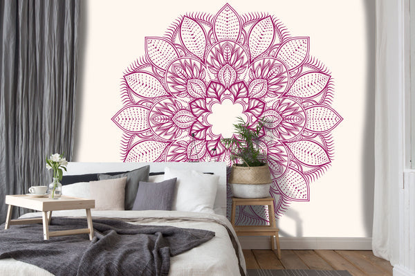 Purple Flower Mandala Light