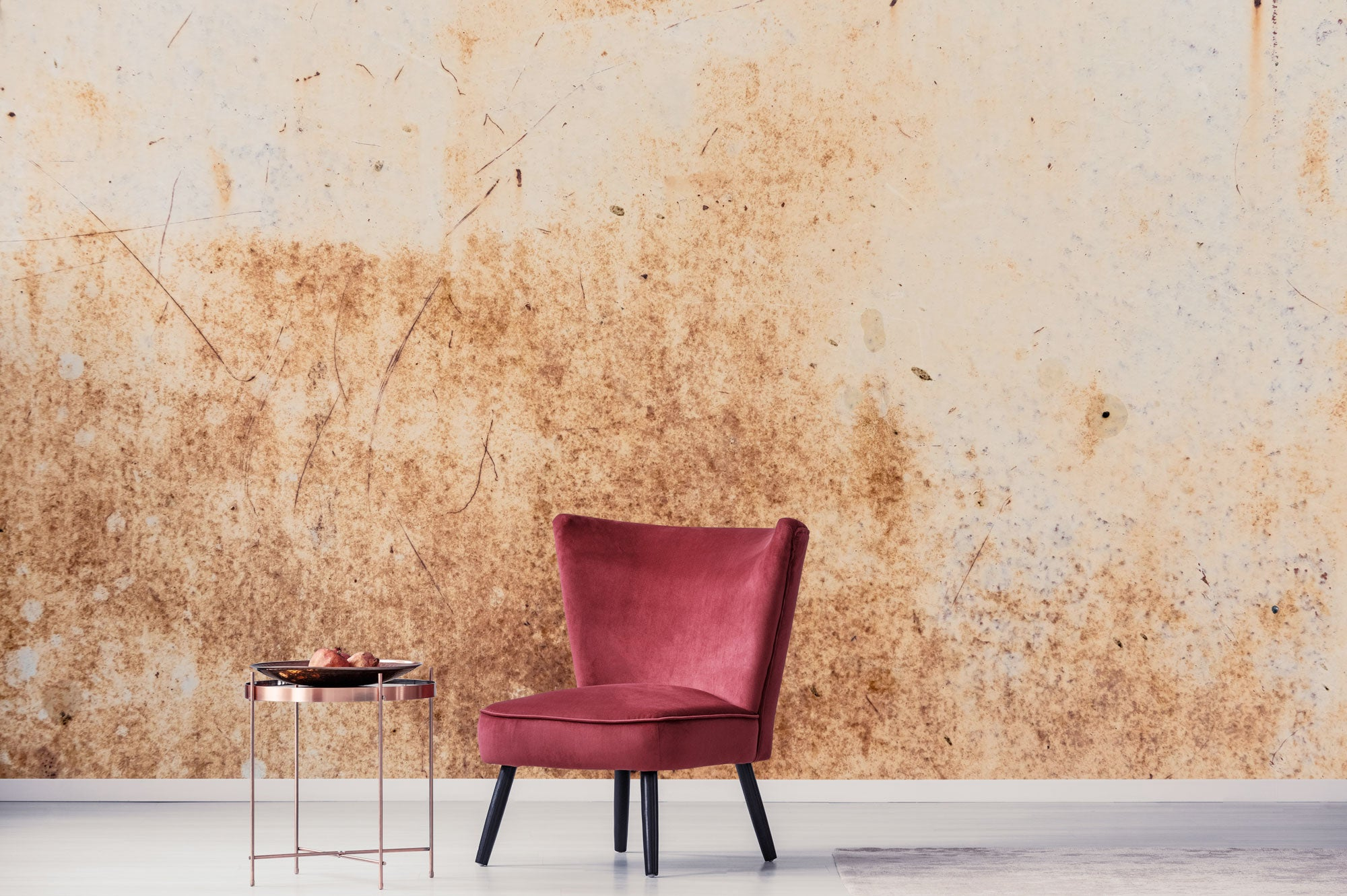 Rusty Wall Red Chair