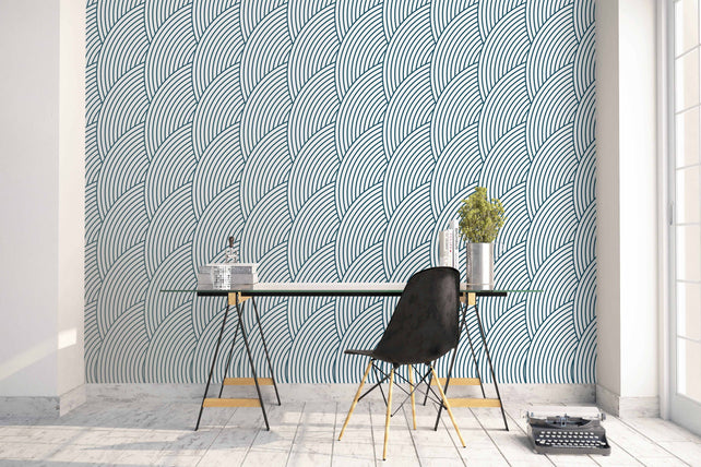 SemiCircle Geometric Wallpaper Mural office