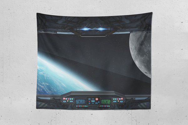 Space Ship Deck Wall Hanging Tapestry