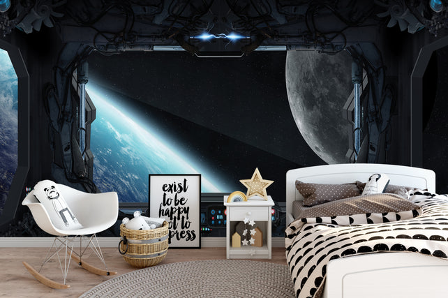 Space Ship Wallpaper Mural
