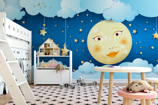 Starry Nursery Wallpaper Mural