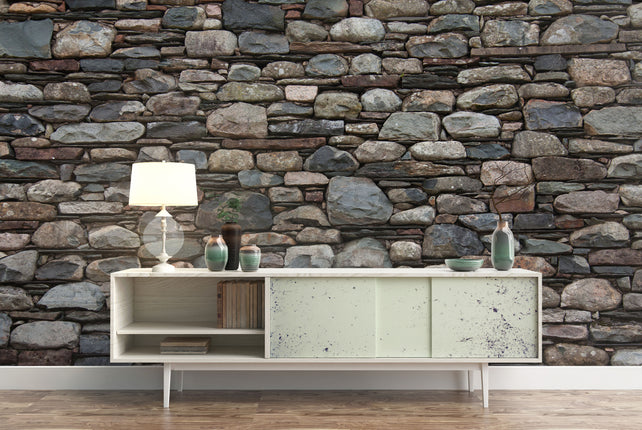 Stone Wall Wallpaper mural living room