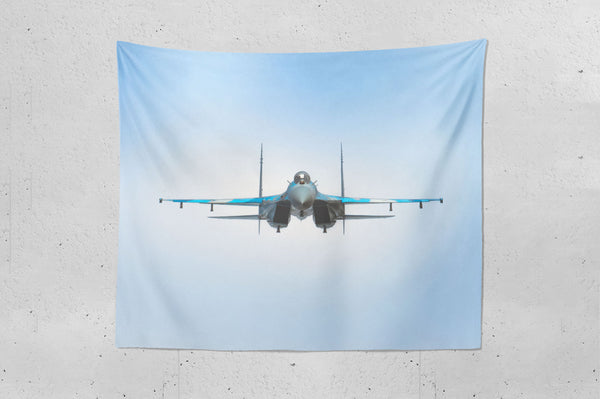 Su-27 Eye To Eye Wall Hanging Tapestry