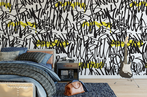 Tagging wallpaper mural