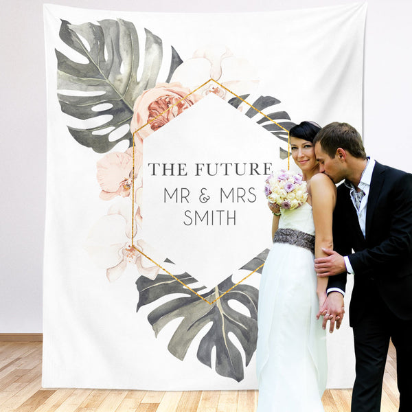 The Future Mr & Mrs Wedding Backdrop