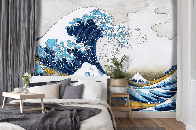 The Great Wave Kojima Bed