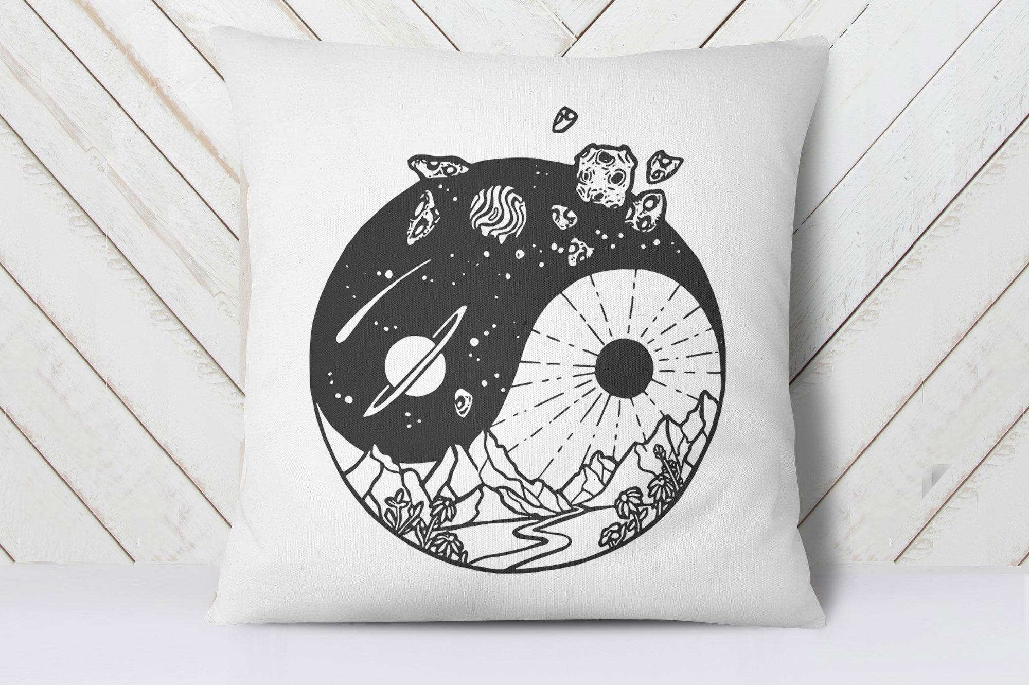 Universe Yin Yang Cushion Cover