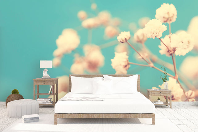 Vintage White Flowers bed
