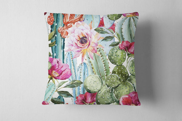Watercolor Cactus Cushion Cover