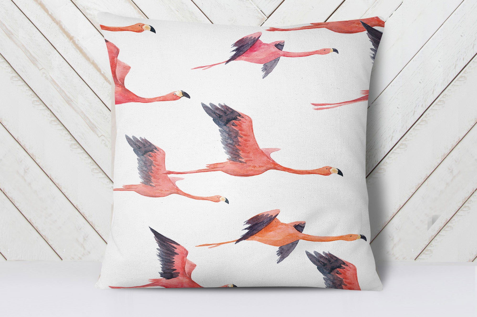 Watercolour Flamingo Cushion Cover