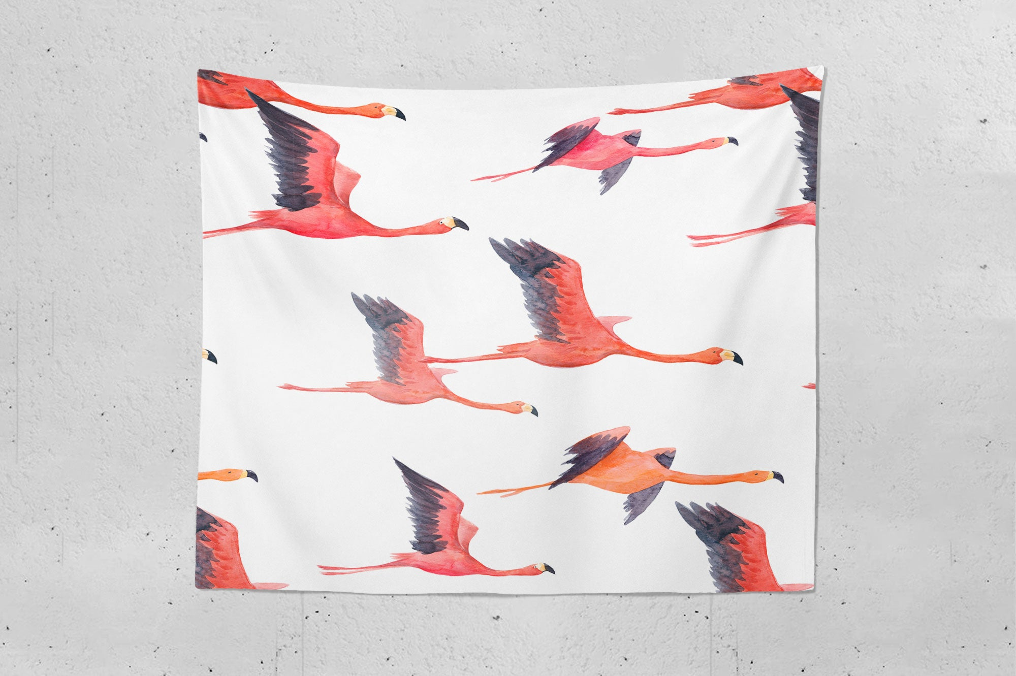 Watercolour Flamingo Wall Tapestry