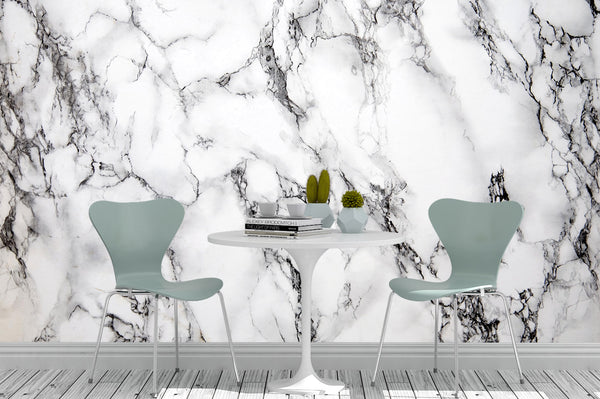 White Marble Texture Kitchen