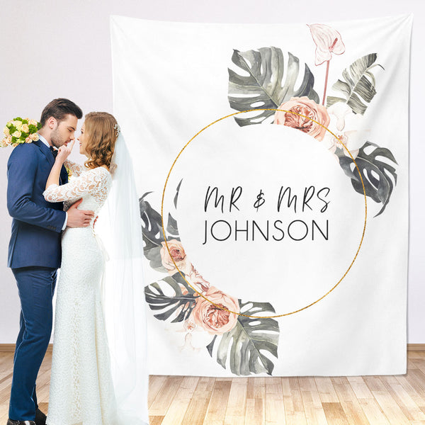 Mr & Mrs Wedding Backdrop