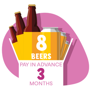 8 Craft Beer Box: 3 months