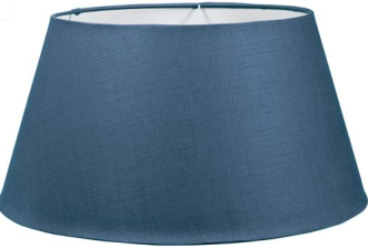 "Henry 26"" Cone Blakeney Blue Linen Lampshade ONLY"