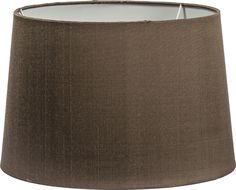 "Lucile 19"" Mocha Silk Lampshade ONLY"
