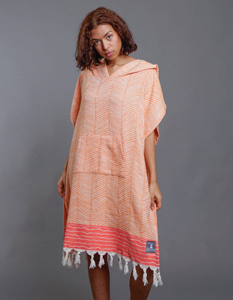 Surf Poncho Feathers