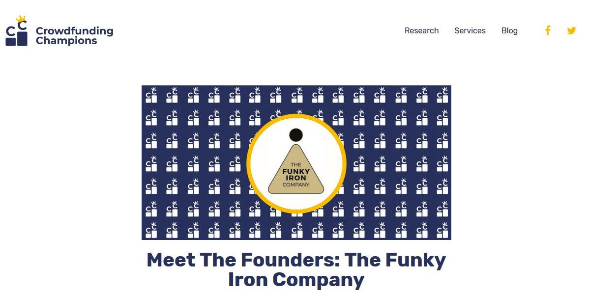 CROWDFUNDING CHAMPIONS: MEET THE FOUNDERS, THE FUNKY IRON COMPANY