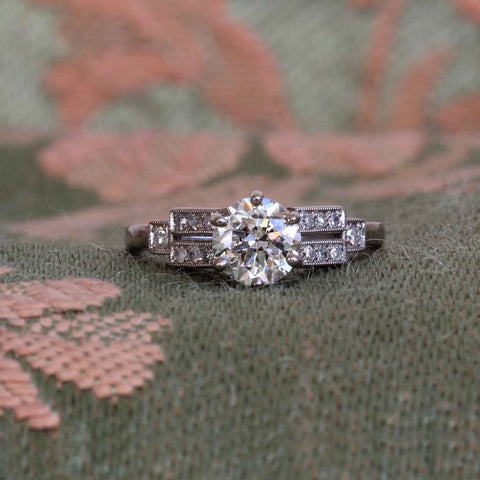 1930 Engagement Ring White Gold Diamond Old Cut