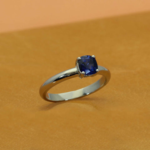 Blue Sapphire Alternative Engagement Ring