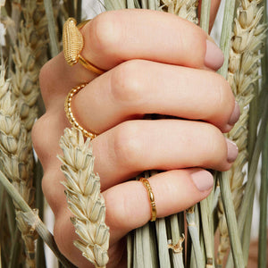 Rosie Kent textured Stacking Rings made in London