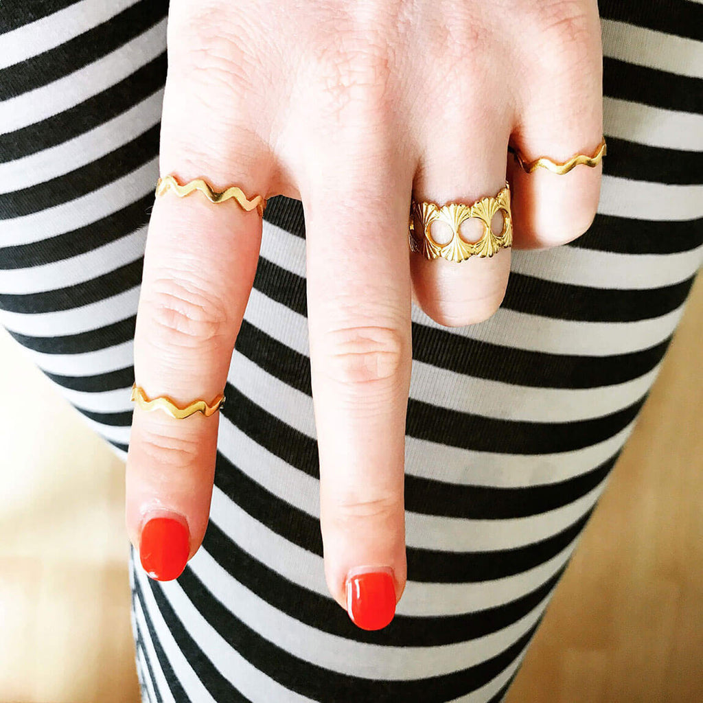 Rosie Kent gold stacking rings