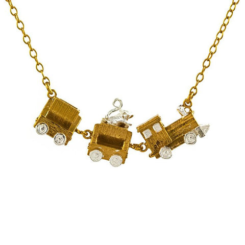 Alex Monroe Toy Train Necklace - 12 Days of Christmas 2014