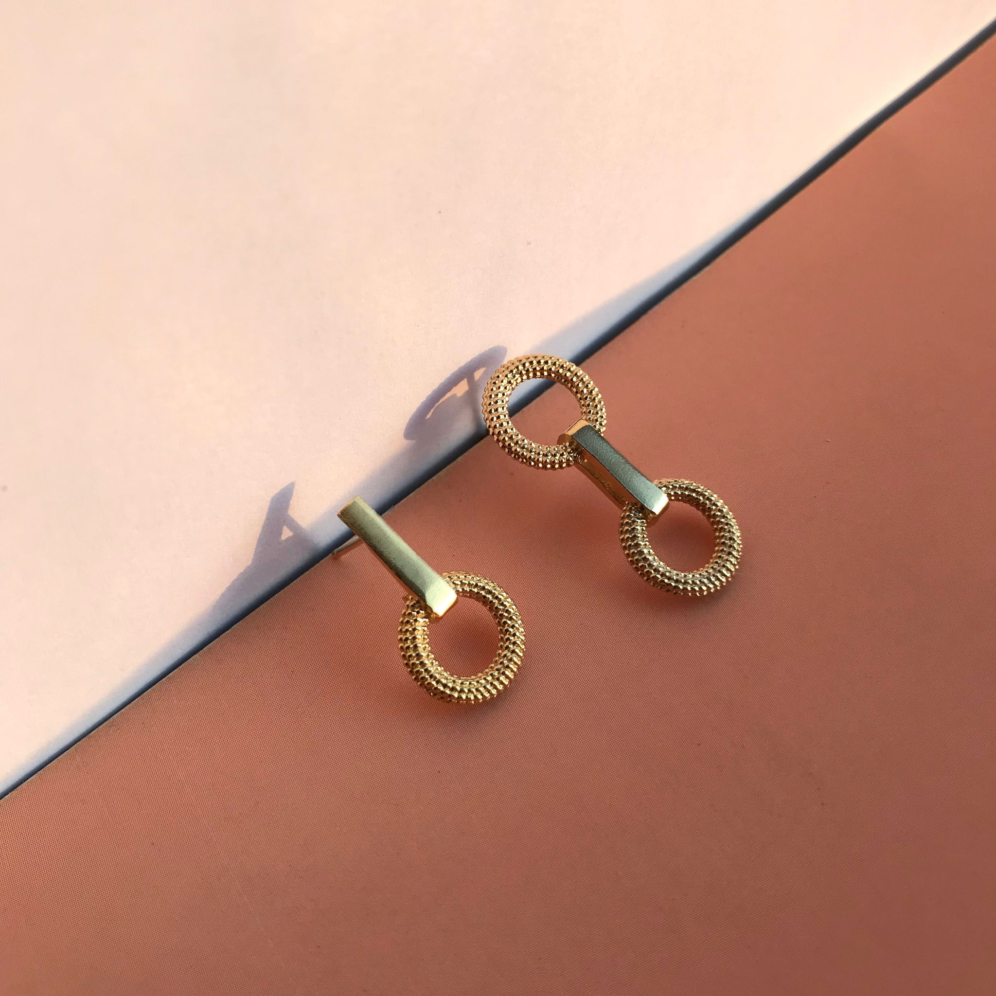 Tyro Yellow Gold Drop Earrings