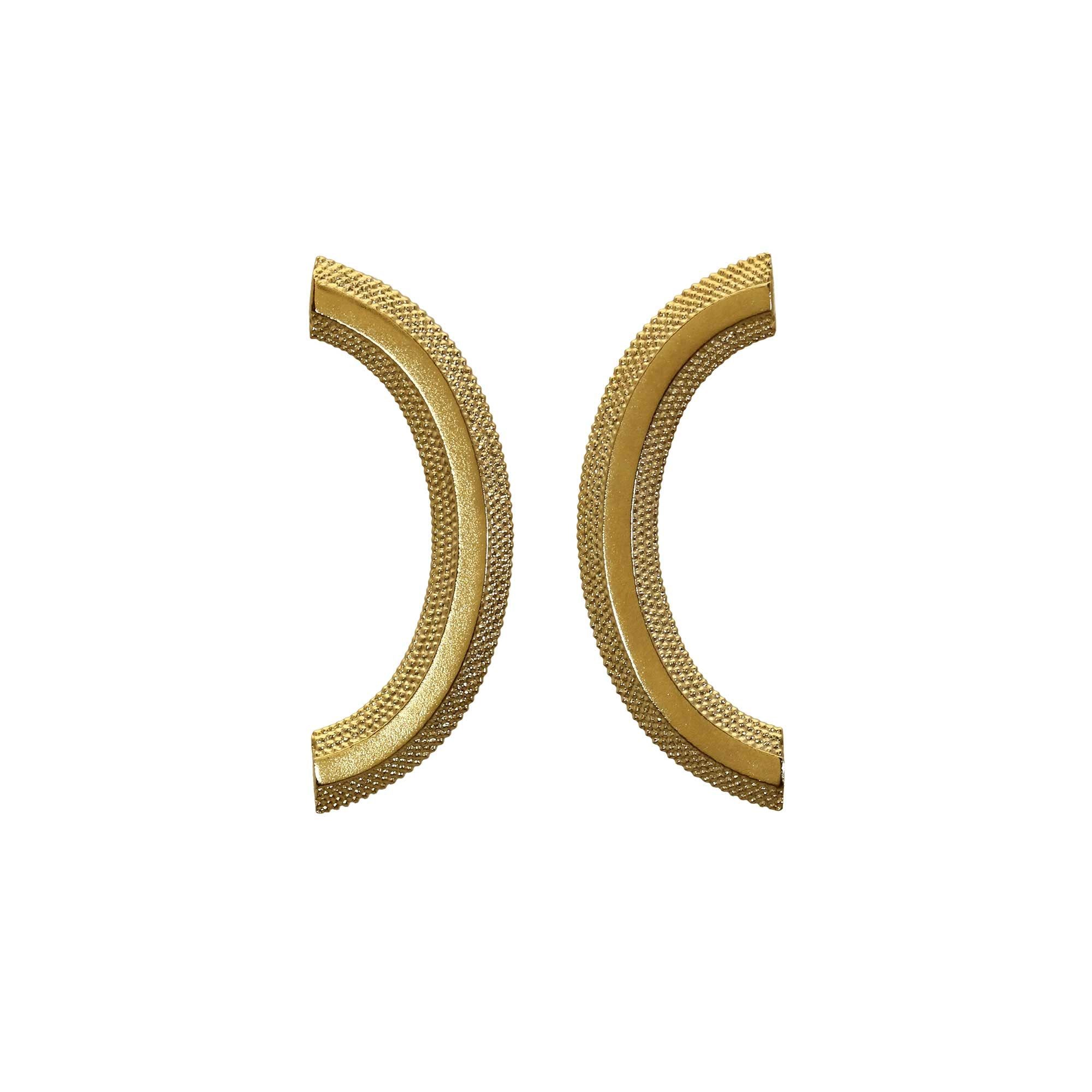 Magma Yellow Gold Curve Studs