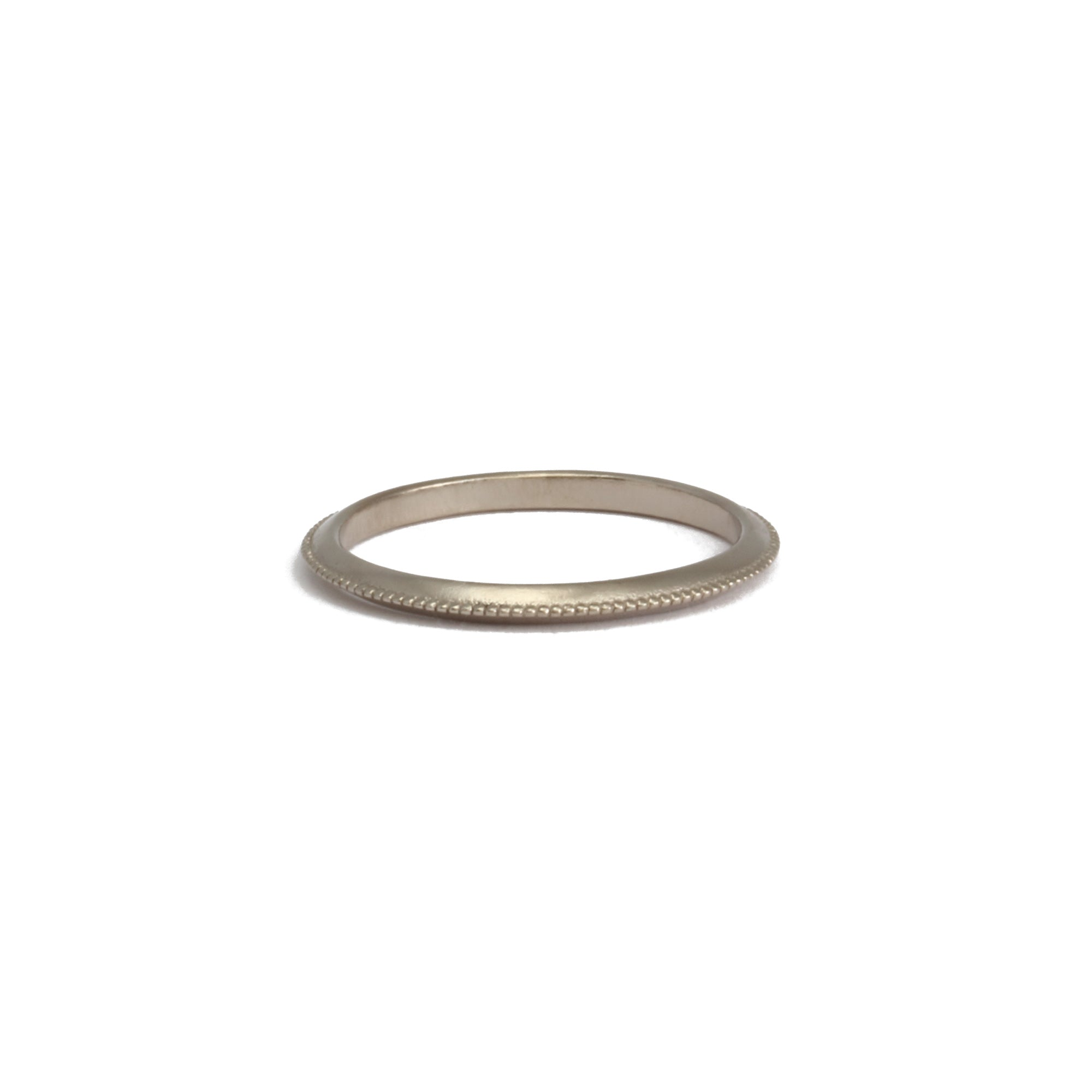 2mm Milgrain Band 18ct gold