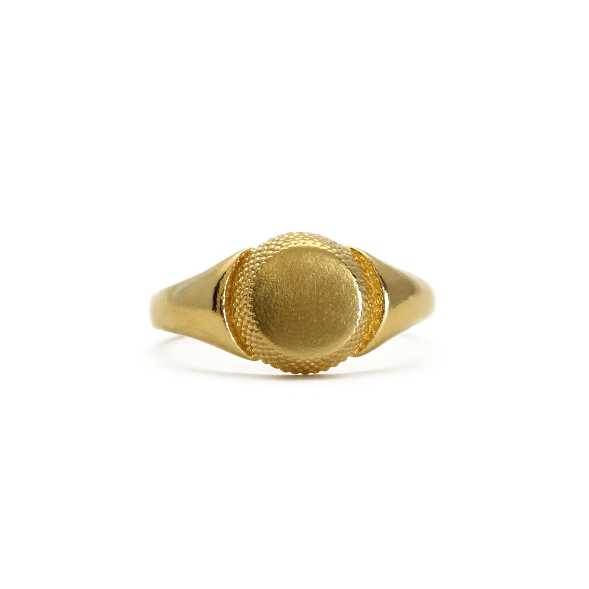 Paragon Yellow Gold Signet Ring