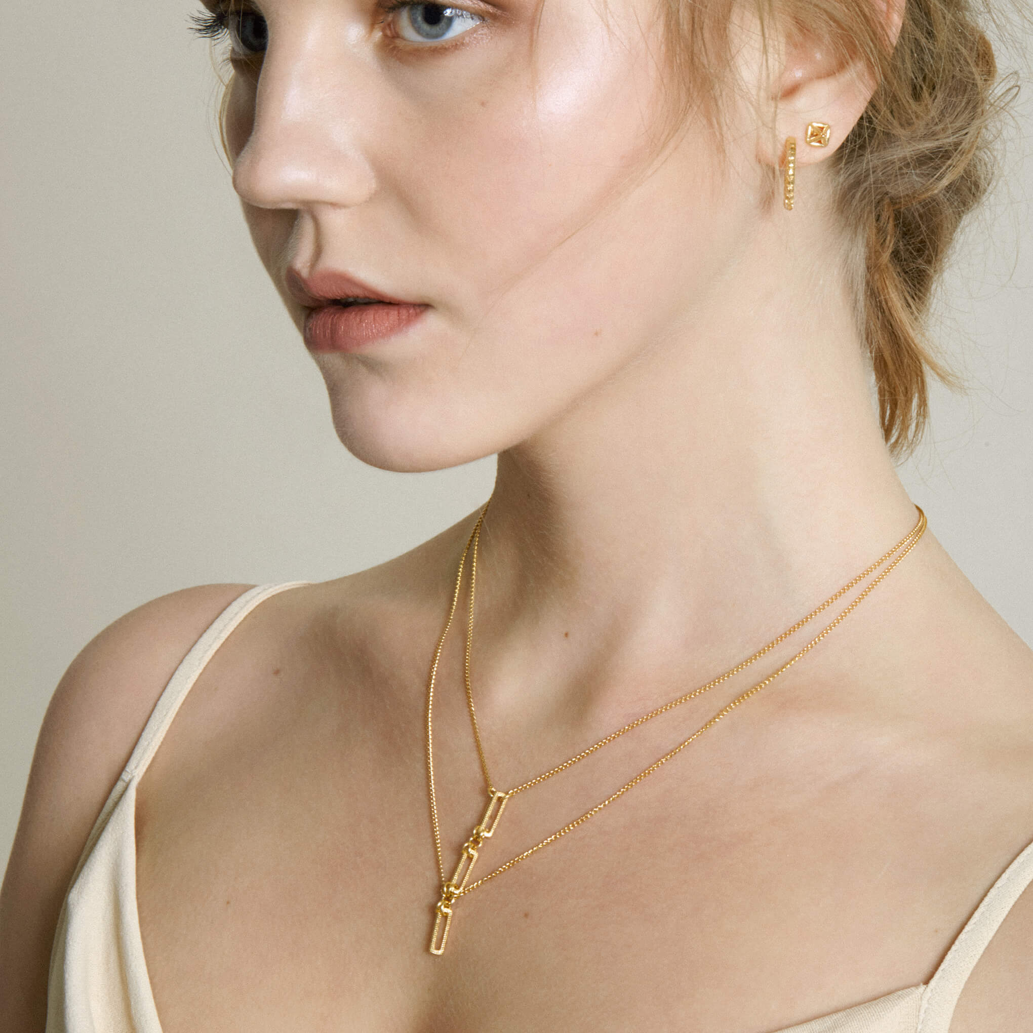 Arthropod Yellow Gold Hoop Earrings